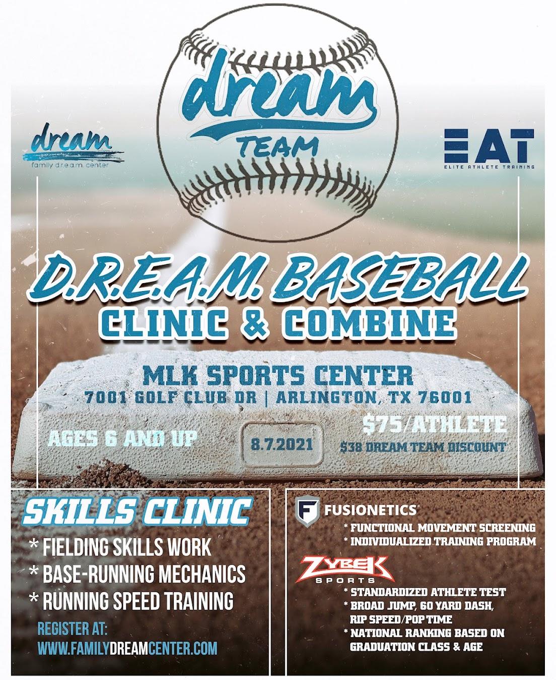 DREAM Baseball Clinic & Combine